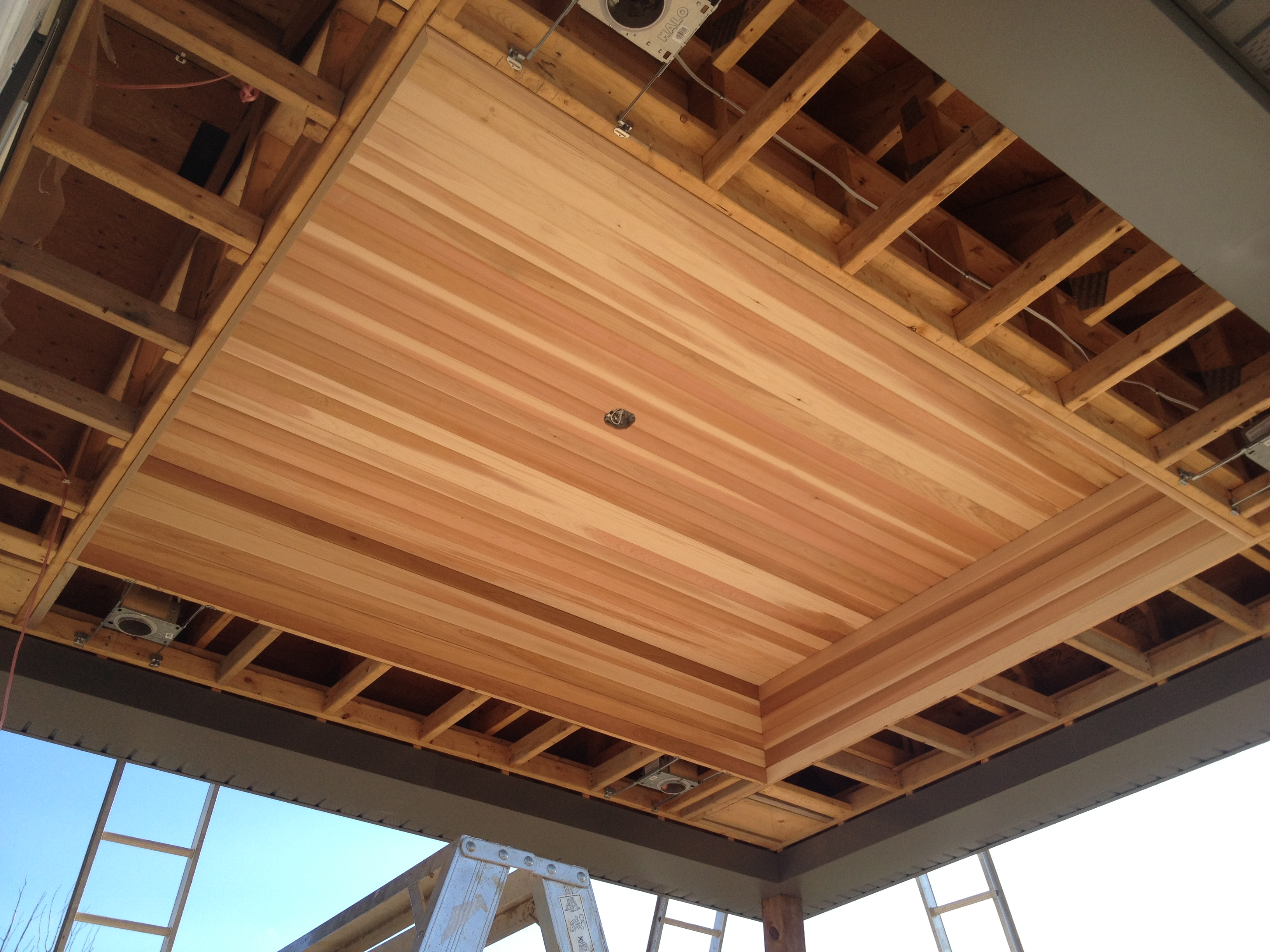 Superb Beautiful Detailed Cedar Ceiling Was Installed To Give This Outdoor Living  Space A Warm Feel To Overlook The Vineyard Setting.